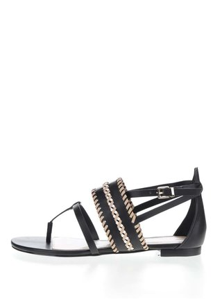 Sandale flip-flop negre cu impletituri  ALDO Nadya