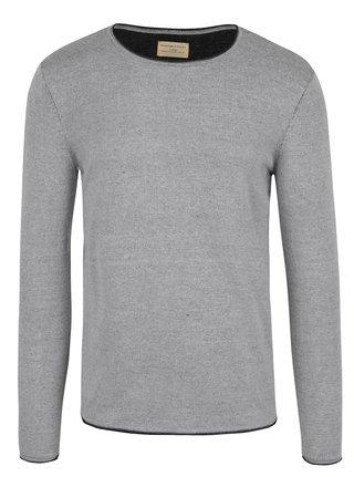 Světle šedý žíhaný svetr Selected Homme Klop