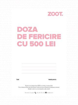 Card cadou electronic in valoare de 500 Lei