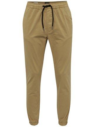Béžové nohavice s pružným pásom Jack & Jones Vega