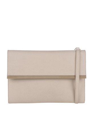Béžová kožená listová kabelka Elega Lola