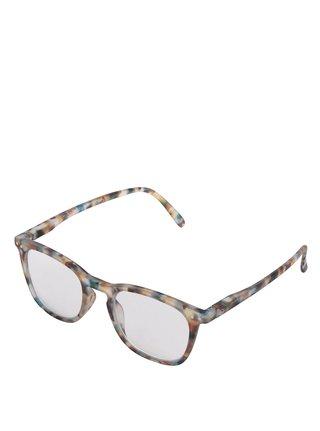 Modro-hnědé vzorované unisex ochranné brýle k PC  IZIPIZI #E