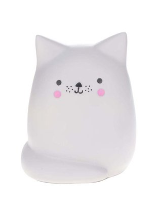 Svetlosivá veľká lampa v tvare mačky Disaster Cat