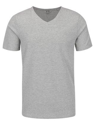 Sivé melírované basic tričko ONLY & SONS Basic