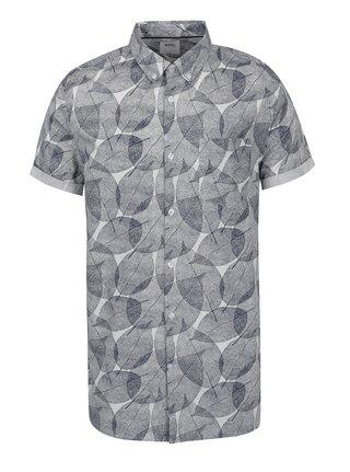 3f885317c Modrá košeľa s motívom listov Burton Menswear London