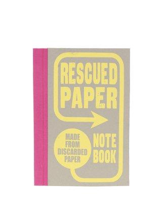 Žluto-šedý zápisník z recyklovaného papíru Chronicle