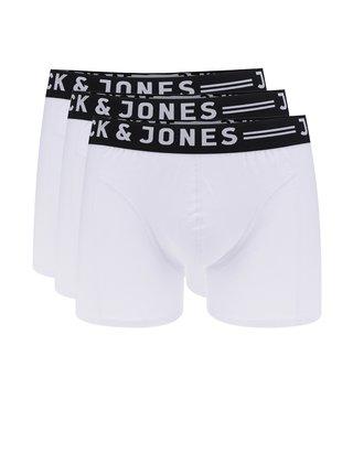 Sada tří boxerek v bílé barvě Jack & Jones Sense