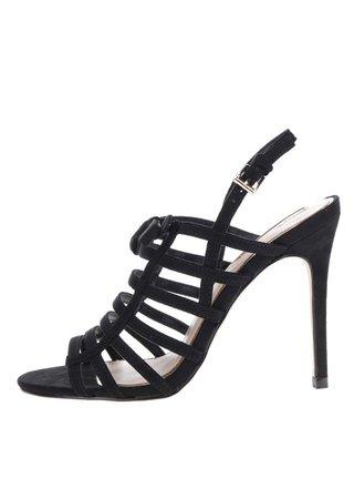 Čierne sandálky v semišovej úprave Miss Selfridge