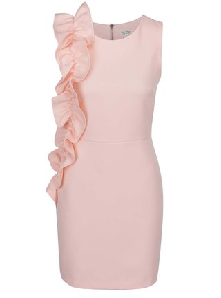 Rochie roz Miss Selfridge cu volan amplu
