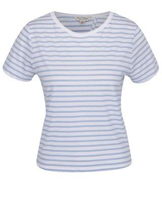 Tricou albastru in dungi cu funda si decupaj  Miss Selfridge