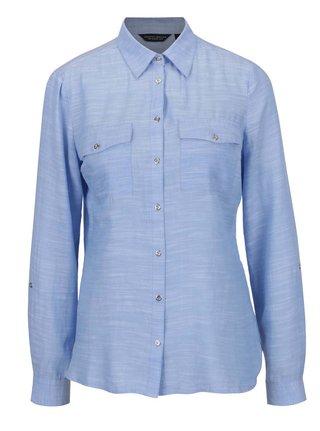 Svetlomodrá melírovaná košeľa s vreckami Dorothy Perkins