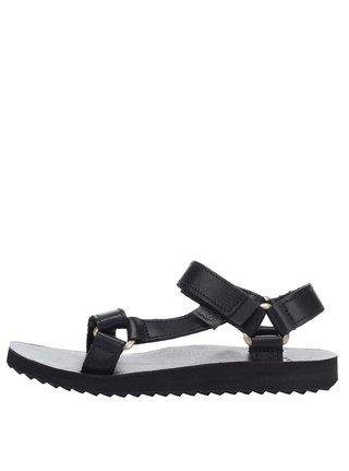 Čierne dámske kožené sandále Teva