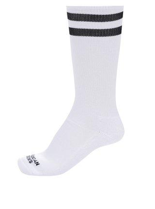 Bílé unisex ponožky s pruhy American Socks Old school I.