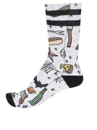 Sosete unisex albe cu print funny American Socks