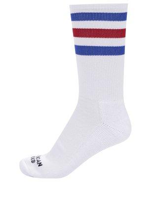 Bílé unisex ponožky s pruhy American socks Pride II.
