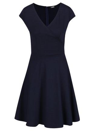 Tmavomodré šaty s prekladaným výstrihom ZOOT