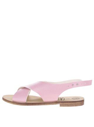 Sandale roz prafuit cu barete late Snaha Rio 160