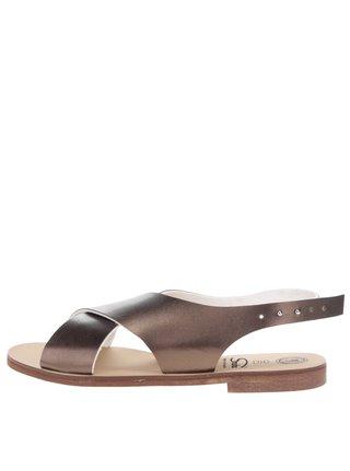 Sandale culorea bronzului cu barete late Snaha Rio 160