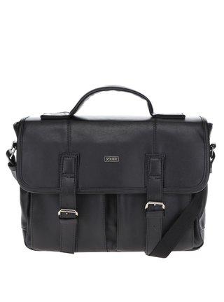Čierna pánska taška s prednými vreckami Solier
