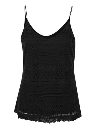 Top negru din dantela VERO MODA Honey