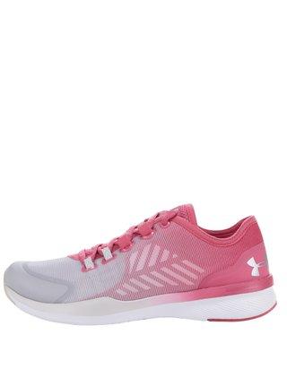 Pantofi sport gri&roz de antrenament pentru femei Under Armour UA W Charged Push TR SEG