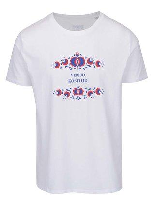 Bílé pánské tričko ZOOT Originál Nepiju Koštuju