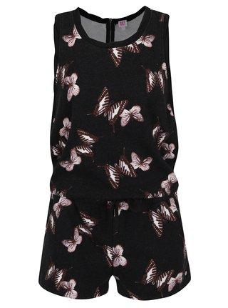 Salopeta neagra cu imprimeu fluturi Juicy Couture