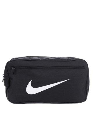 Čierna unisex vodovzdorná taška na topánky s potlačou Nike