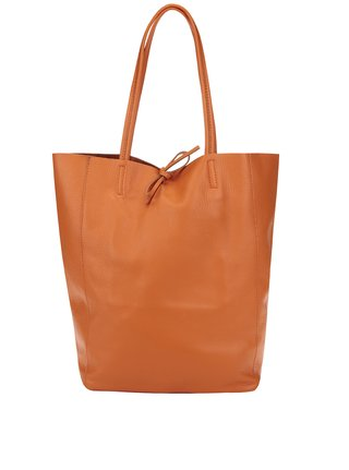 Oranžový kožený shopper ZOOT Simple