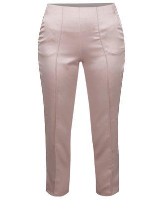 Ružové skrátené nohavice Miss Selfridge