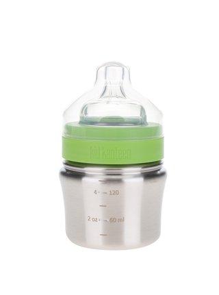 Nerezová dojčenská fľaša v striebornej farbe Klean Kanteen Baby Bottle 148 ml