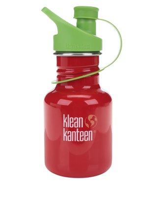 Červená detská nerezová fľaša Klean Kanteen Kid Classic Sport 355 ml