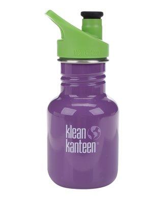 Fialová detská nerezová fľaša Klean Kanteen Kid Classic Sport 355 ml