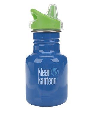 Sticla de apa verde & albastru Klean Kanteen Kid Classic Sippy 355 ml