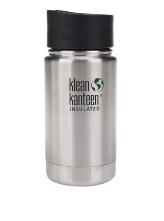 Pahar termos argintiu Klean Kanteen Insulated Wide 355 ml