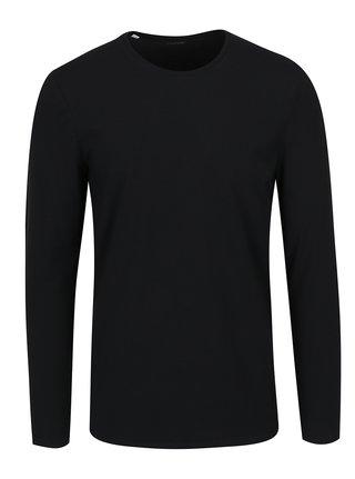 Čierne basic tričko s dlhým rukávom Selected Homme Basic