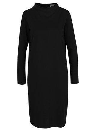 Černé šaty s dlouhým rukávem VILA Faunas