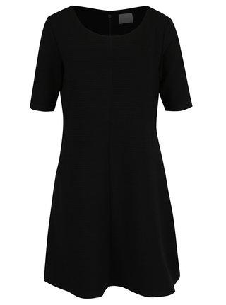 Čierne rebrované šaty VILA Caro