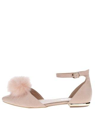 Ružové sandálky v semišovej úprave Miss KG Goldie