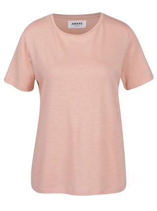 Ružové basic tričko VERO MODA Ava