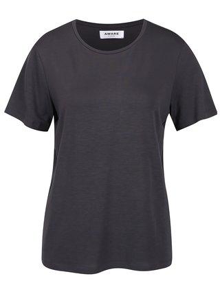 Tmavosivé basic tričko VERO MODA Ava