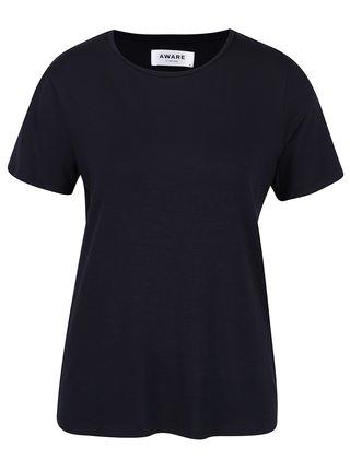 Tmavomodré basic tričko VERO MODA Ava