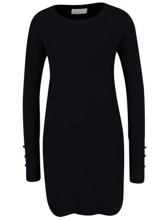 Čierne svetrové šaty VERO MODA Happy Aura