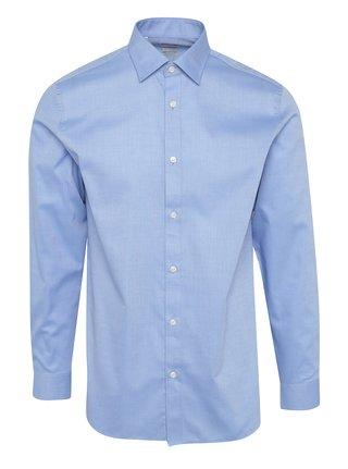 Svetlomodrá vzorovaná formálna  regular fit košeľa Selected Homme Two Pen