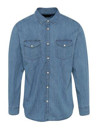 Camsa albastru deschis slim fit din denim Jack & Jones New One