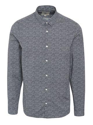 Tmavomodrá pánska vzorovaná košeľa Garcia Jeans