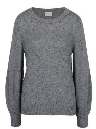 Pulover gri tricotat cu maneci bufante -  VILA Addy