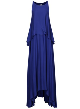 Rochie maxi albastra cu volane Aer Wear