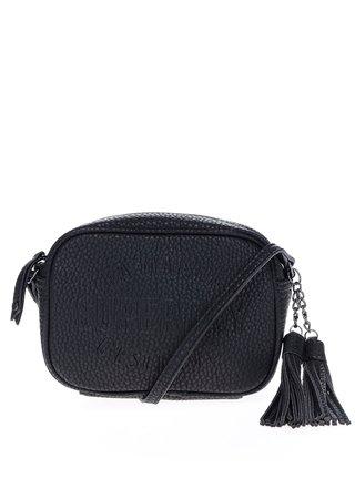 Černá crossbody kabelka s třásněmi Superdry Spot Delwen