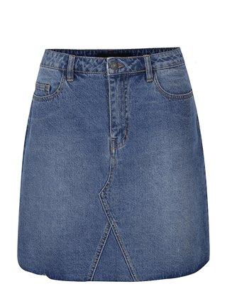 Modrá džínová sukně s kapsami VERO MODA Carolyn